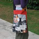 Gipsy tote with pin up prin..