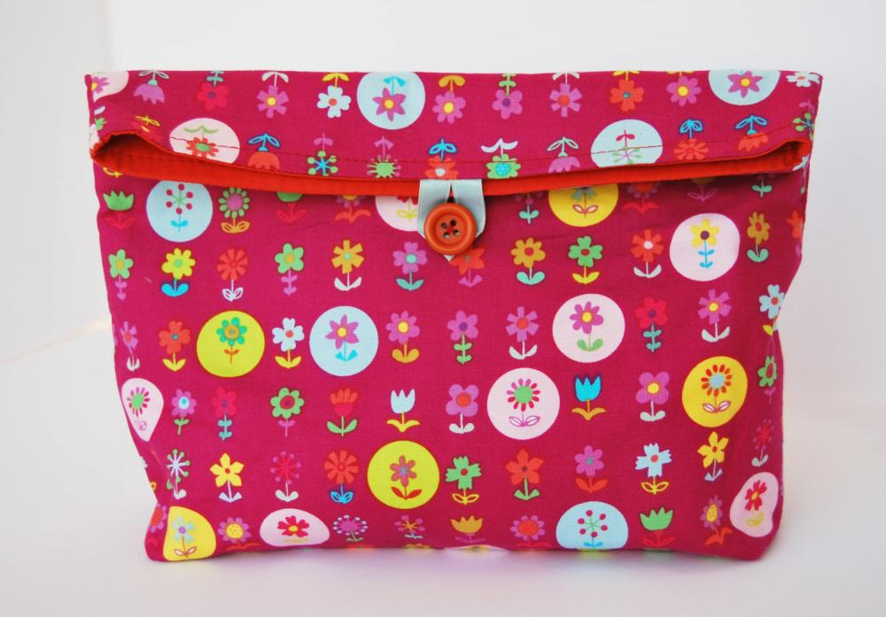 Flowers reusable snack bag by El rincn de la Pulga